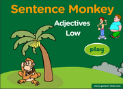 Adjectives and Antonyms Sentences ESL Interactive Fun Game