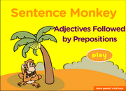 Adjectives Followed by Prepositions Sentences, ESL Grammar Fun Game