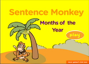 Months and Ordinal Numbers ESL Vocabulary Game Activity Online