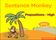 Prepositions,to,of, for, since, with, in, by, ESL Grammar Fun Activity
