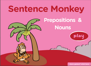 Prepositions Nouns Collocations, by hand, on foot, by chance, ESL Fun Game Online