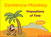 Prepositions of Time, ESL Grammar Interactive Game
