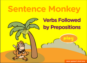 Verbs Followed by Prepositions, ESL Grammar Activity Online