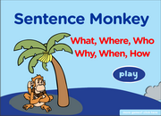 Question Words – What, where, Who, why, when, which, how, Grammar Activity
