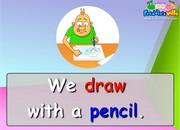 Art Class, School Supplies Sentences & Words