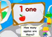 Numbers: How many apples? ESL Video