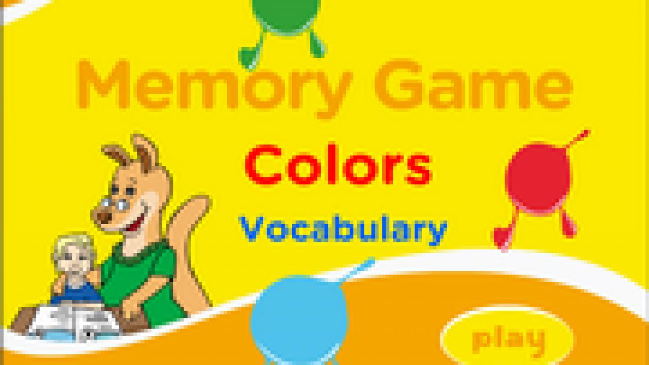 Colors Vocabulary ESL Memory Game