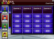 Countries vocabulary game with flags for ESL teaching and