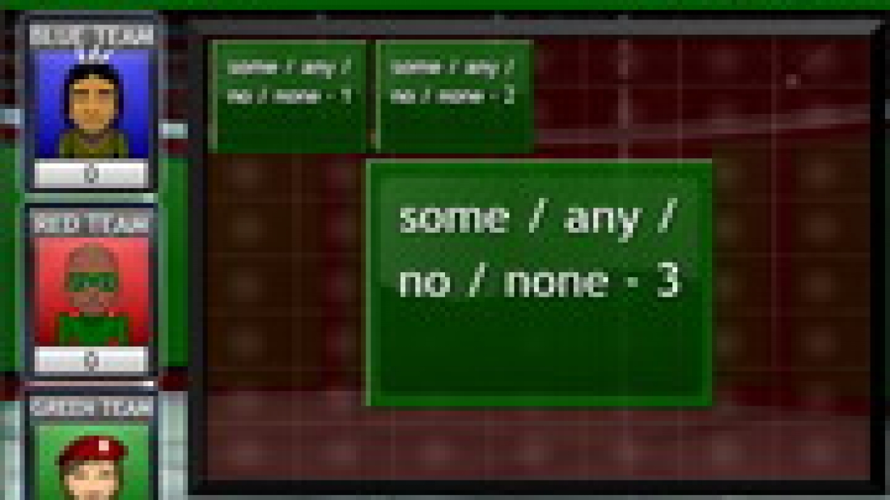 some, any, no, no one quantifiers game