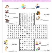 Kitchen Wordsearch Puzzle Worksheet