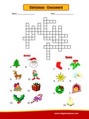 photo relating to Christmas Crossword Printable named Xmas crossword Puzzle Worksheet