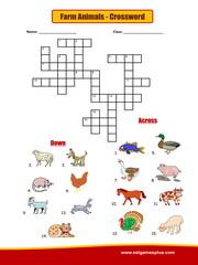 Food crossword Puzzle Worksheet