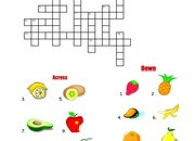 Fruits-Crossword