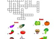 Vegetables-Crossword