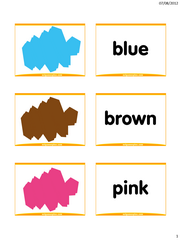 graphic regarding Colors Flashcards Printable identify Shades flashcards