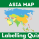 Asian countries map quiz
